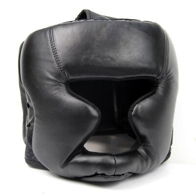 Diret Black Good Headgear Head Guard Training Helmet Kick Boxing Protection Gear
