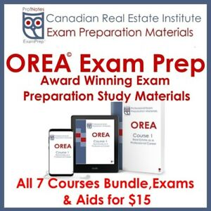 ☝ OREA Courses ☝ All Phases $15 Exam Prep Books gta Toronto​
