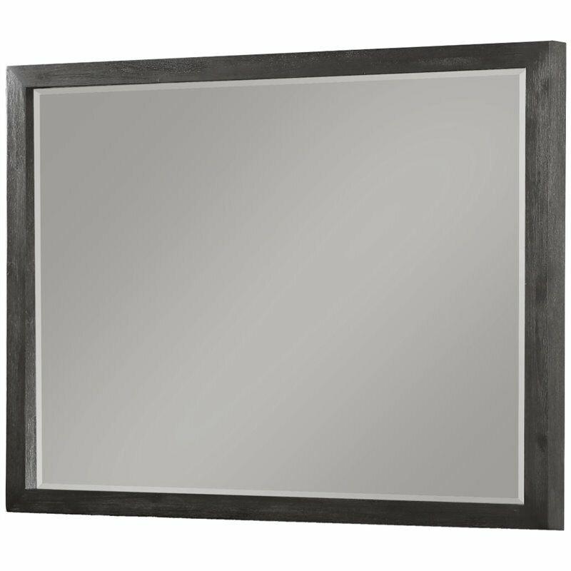 Modus Oxford Mirror in Distressed Basalt Gray