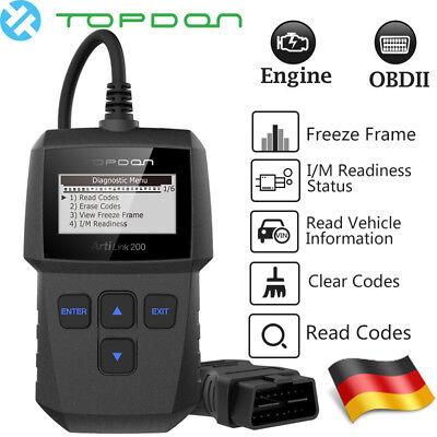 OBDII Diagnosegerät OBD2 Scanner CAN Auto Autofehler Auslesegerät KFZ PKW