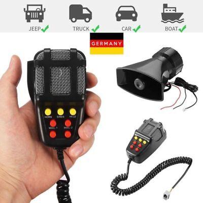 100W 12V Car Truck Alarm Police Fire Loud Speaker PA Siren Horn MIC System Kit ()