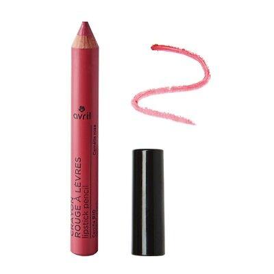 Crayon rouge à lèvres Camélia rose Certifié bio Cosmétique AVRIL