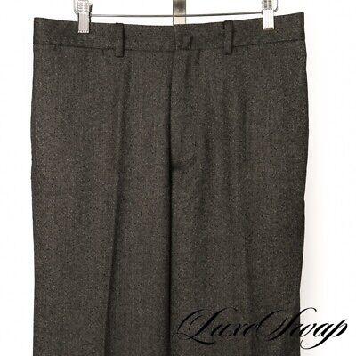 RECENT LNWOT Hackett London Loro Piana Zelander Wool Grey Donegal Fleck Pants 34