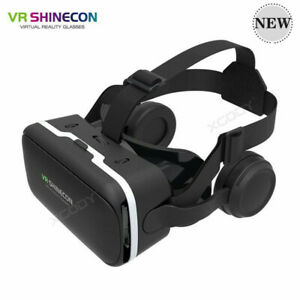 Virtual Reality Glasses 3D VR-BOX Headset Remote Control for Smartphone Black