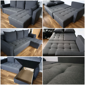 💫 SALE💫 Brand New Corner Sofa Bed with double storage.*Delivery ava