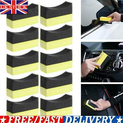 10Pcs Car Wheel Washer Tyre Tire Dressing Applicator Curved Foam Sponge Pad