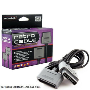 NEW SNES Cable Controller Extension Cord 6 Feet Retro-Bit