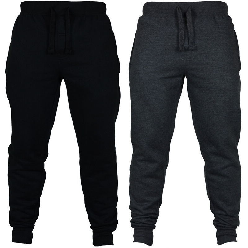 Mens Sweat Pant Gym Workout Exercise Fitness Fit Jogging Tro