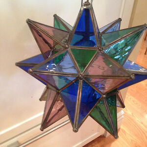 STAINED GLASS STAR LIGHT