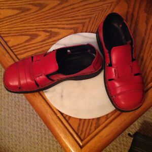 RED JOSEF SIEBEL LOAFERS