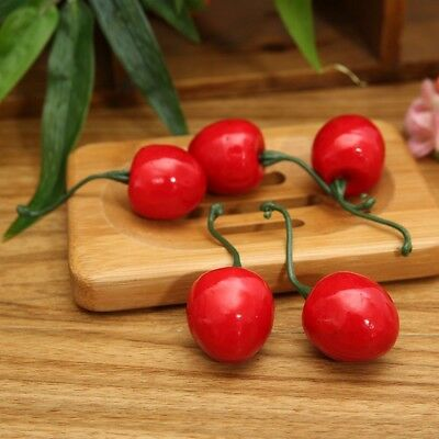 Fake Cherries 20 pcs Artificial Foam Fruits Vegetables Party Home Decorations