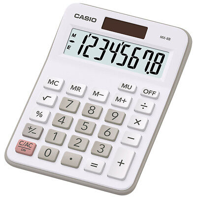 Casio MX8B Ideal Student Home Business Office Workers Desk Top Calculator *MX-8S