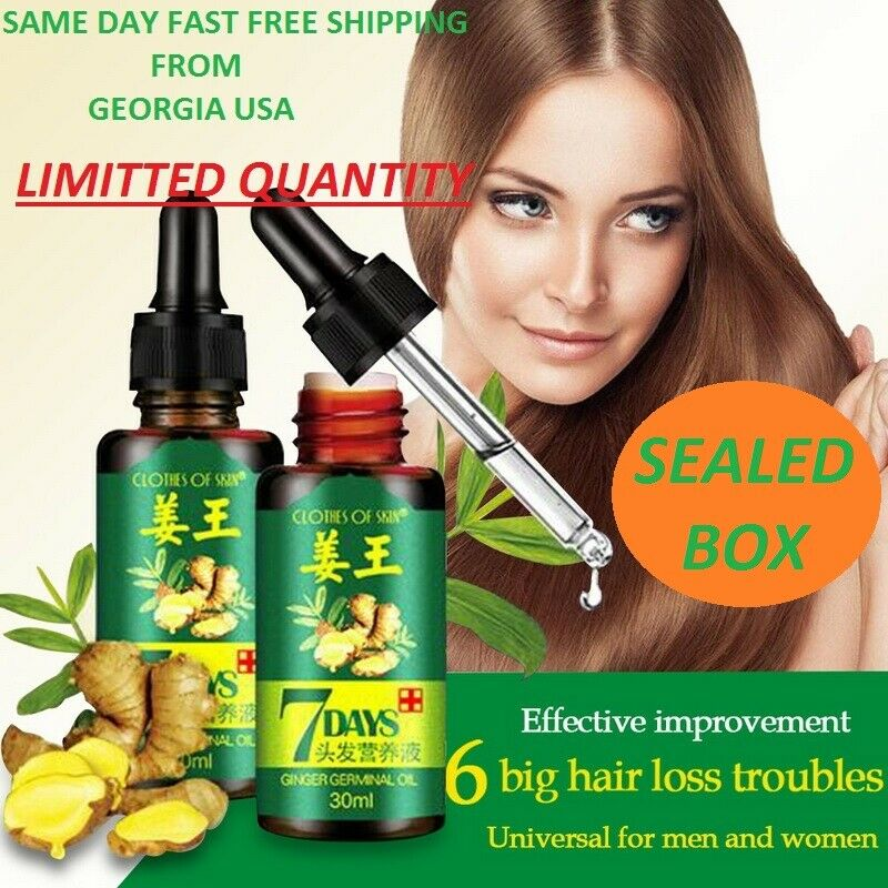 7 Day Ginger Germinal Hair Regrowth Serum Hairdressing Oil Hair Loss Treatment Hair Care & Styling