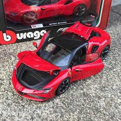 Bburago 1/24 Diecast Ferrari SF90 Stradale Open close Car model Red Black Roof