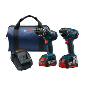 Bosch 18-Volt Lithium-Ion Cordless Hammer Drill/Driver and Impac