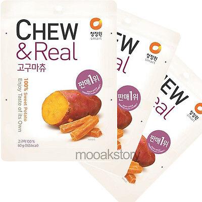 [ChungJungWon] Sweet Potato CHEW & Real Wellness Snack Korean Food 60 g × 3 ea