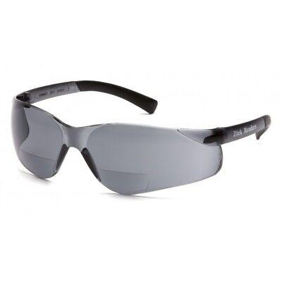 PYRAMEX SAFETY S2520R15 Ztek Readers Bifocal Safety Glasses Grey (Safety Bifocals)