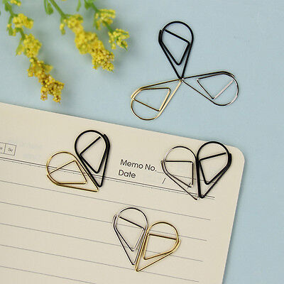 10pcs Creative Interesting Bookmark Clip Shaped Paper Clips For Office School