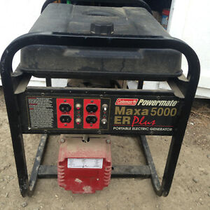 Coleman powermate Maxa 5000 er plus manual