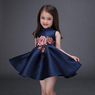 Flower Girl Dress Kid Formal embroidered Dress Birthday Party Ball Gown 2-7T](Flower Girl Flower Ball)