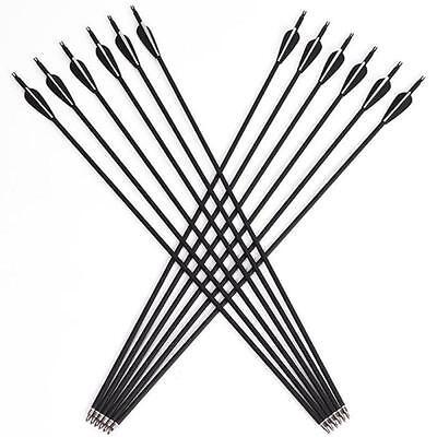 12Pcs 31 Archery Carbon Arrows Target Practice Hunting Compound Recurve Bow