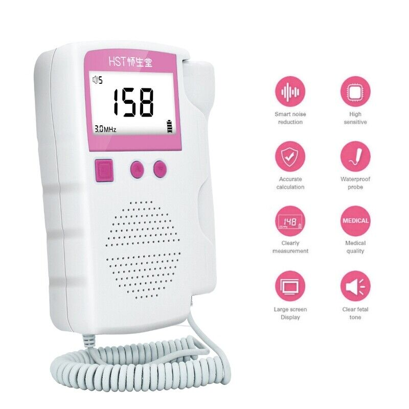 3.0 MHz Probe Prenatal Fetal Doppler Heartbeat Monitor Ultrasonic Detector U