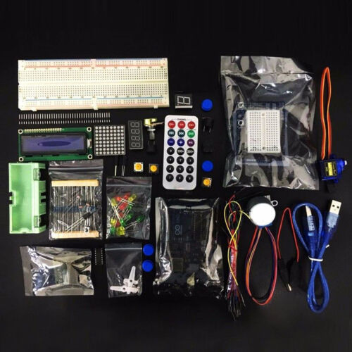Ultimate Arduino Starter Learning Kit for UNO R3 1602 LCD Breadboard Servo Motor