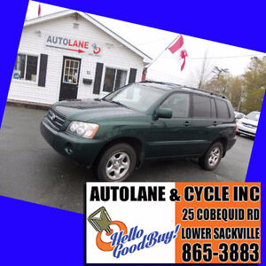 2001 Toyota Highlander SUV AWD Lovely Condition