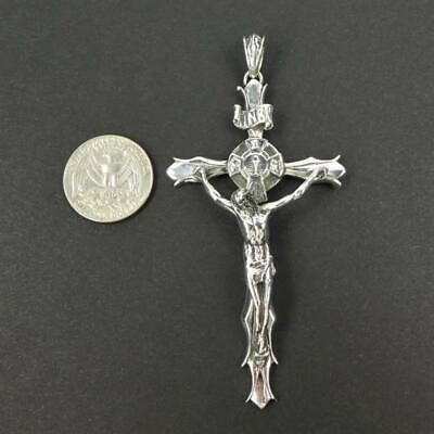 Solid Sterling Silver Nice Detail Crucified Jesus 3.75
