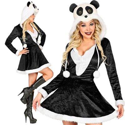 SEXY PANDA DAMEN KOSTÜM weiß-schwarz - Kleid mit - Schwarz Weiße Kostüme