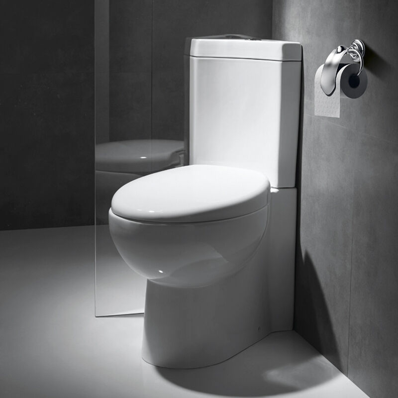 BN Bathroom WC Cloakroom Corner Close Coupled Toilet Pan Cistern Soft Close  Seat. Cloakroom White Toilet With Soft Close Dual Push Seat Concealed