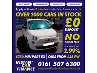 Fiat 500 Pop Hatchback 1.2 Petrol LOW RATE CAR FINANCE AVAILABLE