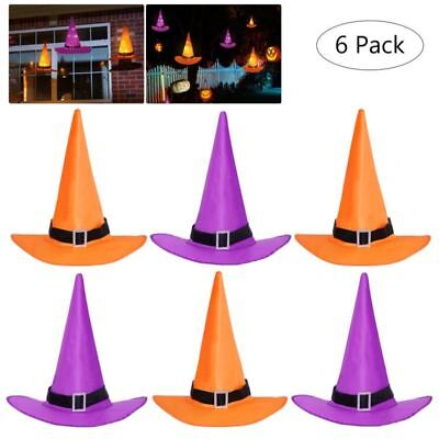 Halloween Light (YUNLIGHTS Halloween Decorations 6Pcs Witchs Hat Decor Light 33ft String)