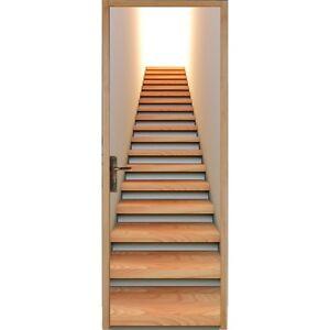 Papier peint porte escalier 114 ebay - Papier peint escalier ...