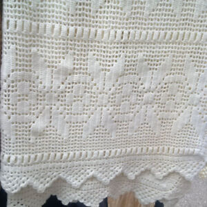 hand-crocheted ivory queen-size bedspread