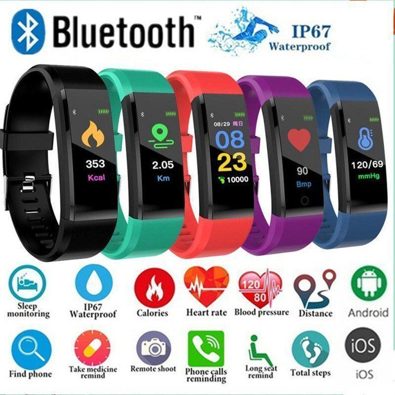 fitness tracker watch heart rate monitor blood