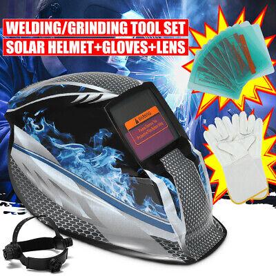 Solar Power Auto Darkening Welding Helmet Tig Mig Arc Mask Grinding Welder Us