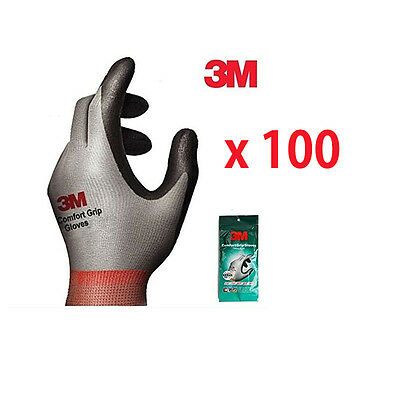 100 Pairs 3M Comfort Grip Gloves Electrical and Maintenance Gardening Work Glove