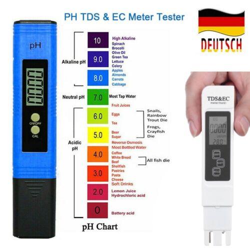 3in1 Wassertester Pool Messgeräte EC TDS PH Wert Wassertest Aquarium Trinkwasser