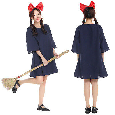 Japan Anime Kiki's Delivery Service Dress Halloween Fancy Cosplay For Women Maid - Anime Halloween Costumes For Adults