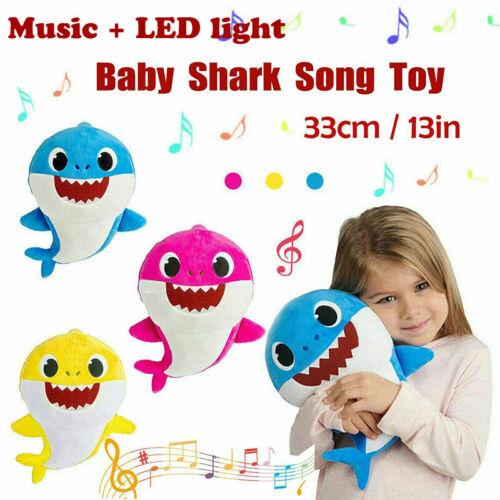 Shark Toys Soft Plush Doll Singing Music English Song Cute K