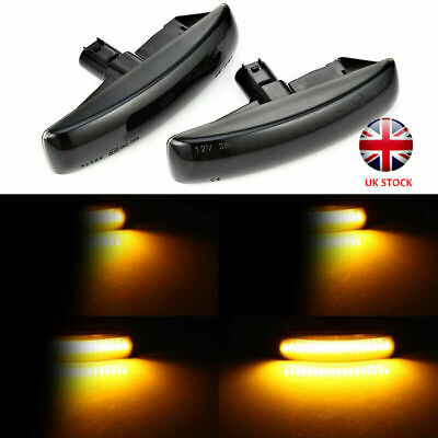 LED Black Smoked Amber Side Repeater Light For Land Rover Discovery 3+4 Magic 2