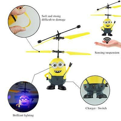 Helicopter Flying Induction Despicable Me Minion Quadcopter Drone Mini Aircraft