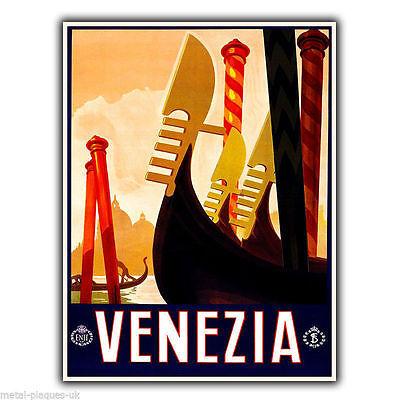VENEZIA VENICE ITALY Vintage Retro Travel Advert METAL WALL SIGN PLAQUE poster