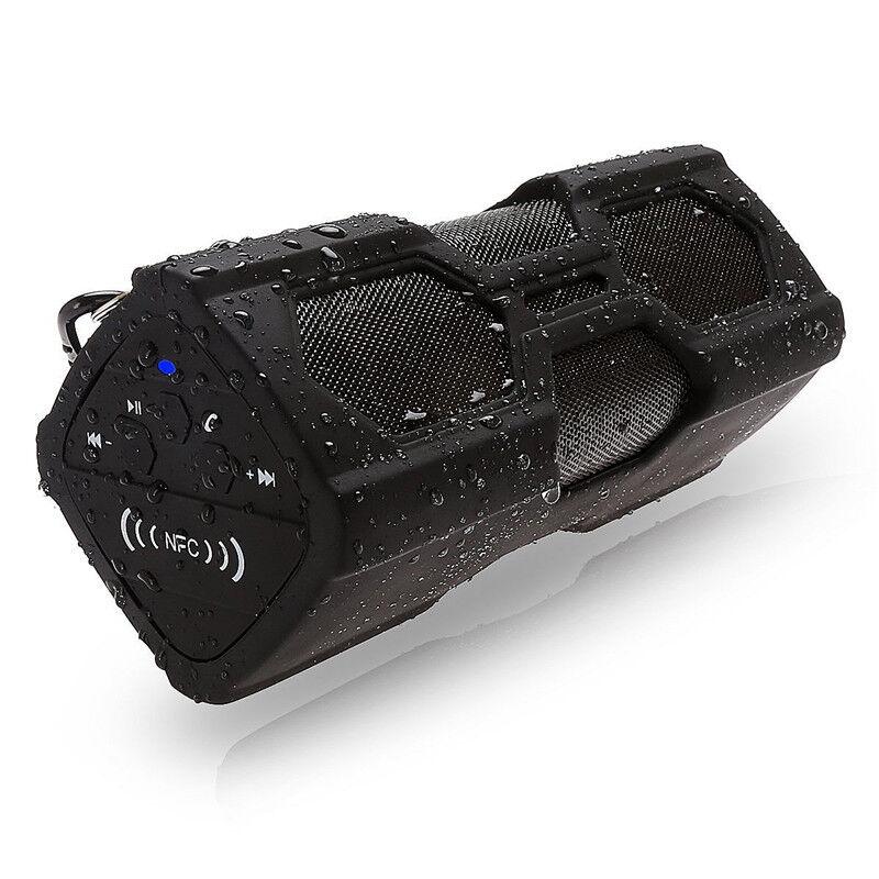 portable bluetooth wireless speaker waterproof power bank