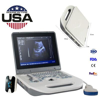 Color Digital Laptop Ultrasound Machine Electron Scanner3.5mhz Convex Probe Fda