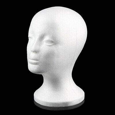 Female Styrofoam Mannequin Foam Head Model Glasses Hat Wig Display Holder Useful