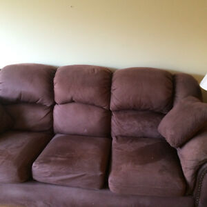 Brown Fabric Couch, Chair and Ottoman bundle Kitchener / Waterloo Kitchener Area image 1