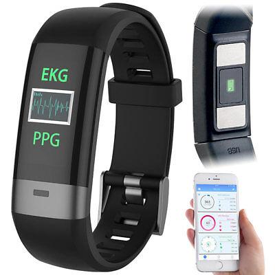 Ekg-anzeige (Fitness-Armband, Blutdruck-/Herzfrequenz-/EKG-Anzeige, Bluetooth, App)