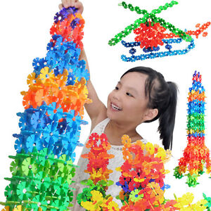 150X-Multicolor-Kids-Baby-Snowflake-Creative-Building-Blocks-Educational-Toy-IY